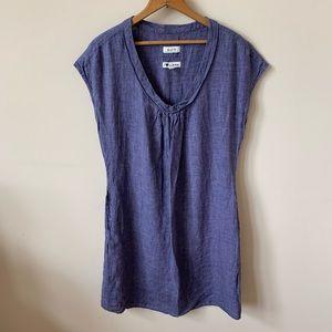 Malvin 100% linen chambray dress #638